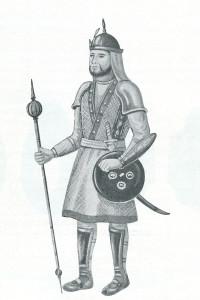 A Mughal sepoy. 17th Century