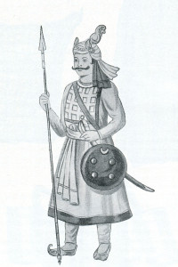 A Rajput soldier. 17th Century